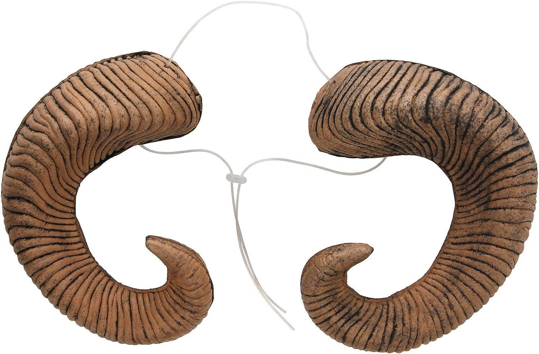 Ram Animal Horns Cosplay Costume Accessory with Adjustable Headband: Clothing