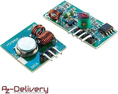 Kit emetteur recepteur 433 Mhz pour arduino ou raspberry pi