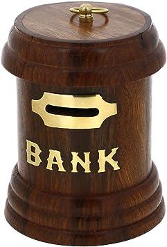 Caja Postal En Forma De Regalos Hechos A Mano De Madera De Dinero del Banco De La India: Amazon.es: Juguetes y juegos