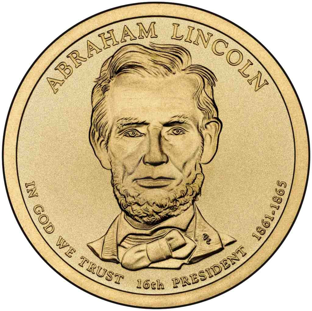 A 2010 P PRESIDENT ABRAHAM LINCOLN UNCIRCULATED PRESIDENTIAL DOLLAR POS