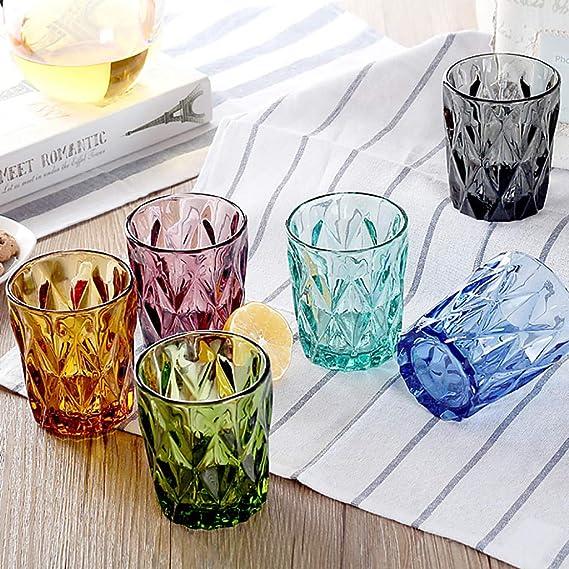 Amazon.com: Amazpro Stemless Glass White Wine Glasses, 240 ...