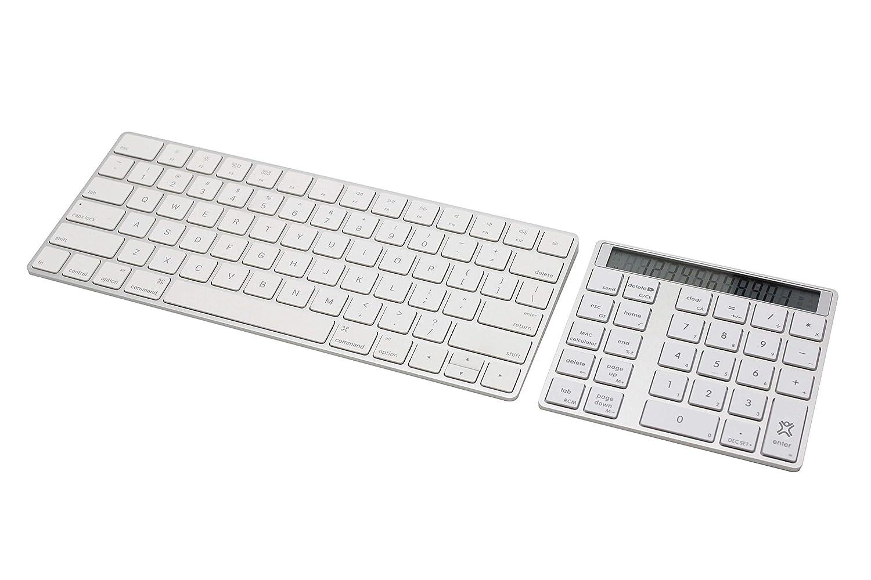 Wireless Taschenrechner Silber Laptop PC Kabellos Tastatur mit Rechner /& Display MacBooks XtremeMac XMNUMCARD Universal Bluetooth Nummernblock mit Display f/ür iMacs