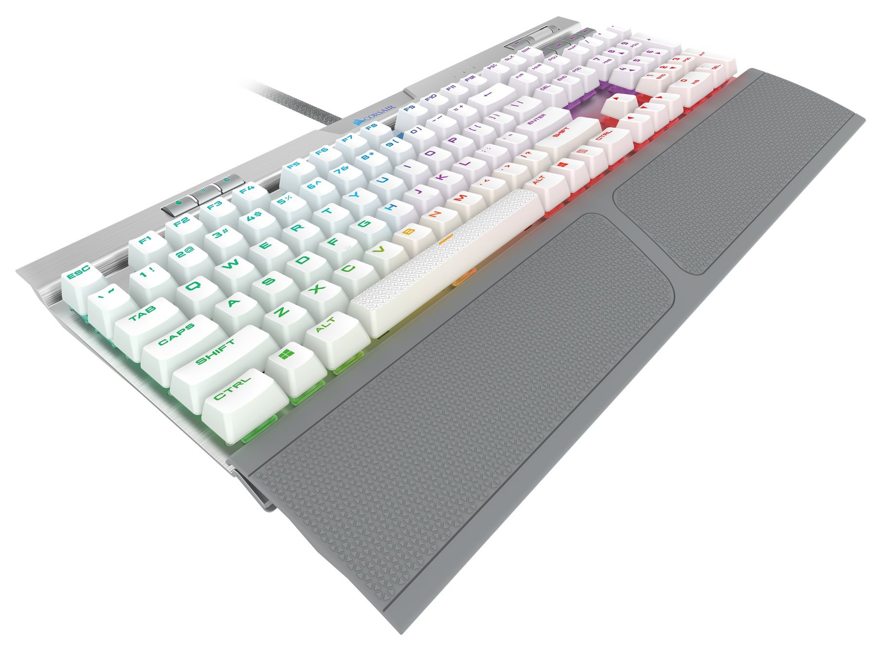 CORSAIR K70 RGB MK.2 SE Mechanical RAPIDFIRE Gaming Keyboard - USB Passthrough & Media Controls - PBT Double-Shot Keycaps - Cherry MX Speed - RGB LED Backlit