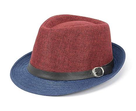 Men Jazz Hat Panama Bucket Straw Sun Cap Vintage Fedoras for Party ... 09ec8b64ac9c