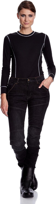 Blau Gr/ö/ße 26 Roleff Racewear Motorradhose Kevlar Jeans f/ür Damen