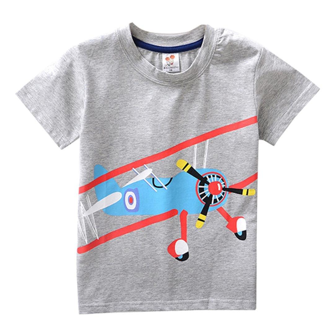 WARMSHOP Boys Mix Color Short Sleeve Cartoon Pattern Cotton Summer Cloth Tank Tops China