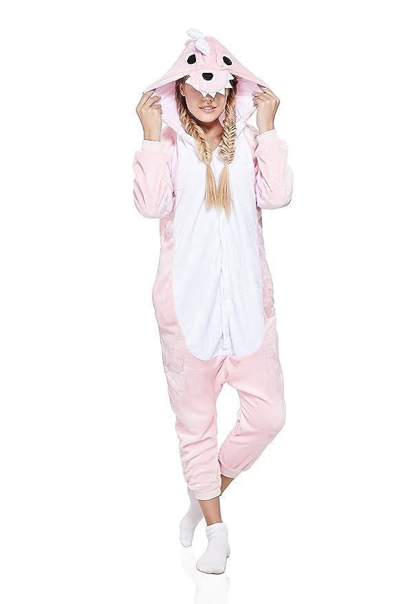 75565f4d9 Nothing But Love Adult Pink Dragon Kigurumi Animal Onesie Pajamas ...