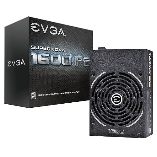 EVGA Supernova 1600 P2 80 Platino 1600 W Modo Eco NVIDIA SLI y Crossfire Ready Totalmente Integrados Garantía de 10 años Fuente de alimentación 220 P2 1600 X2