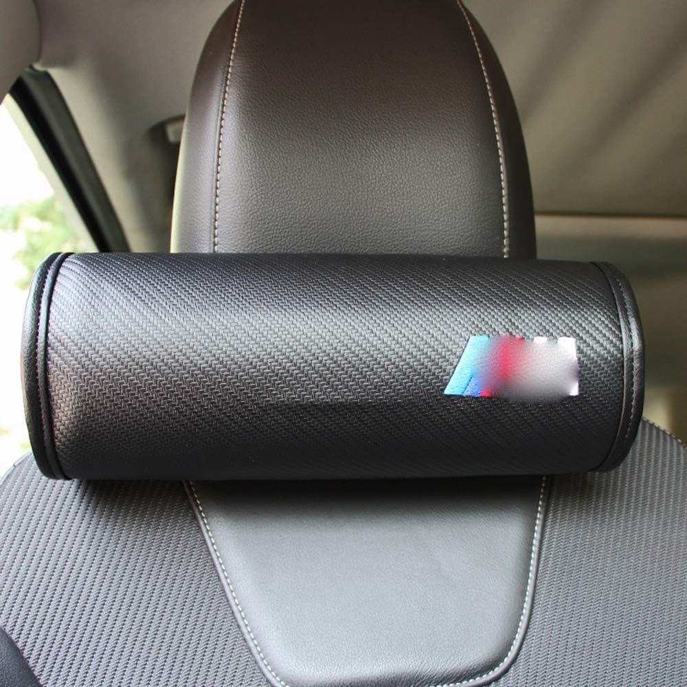 TDPQR 2pcs Appui-T/êTe pour Si/èGe Auto pour BMW M3 M5 M6,Coussins avec Motif De Logo Brod/é Repos De Cou De Voiture,Coussin DAppui-T/êTe Confortable en Cuir