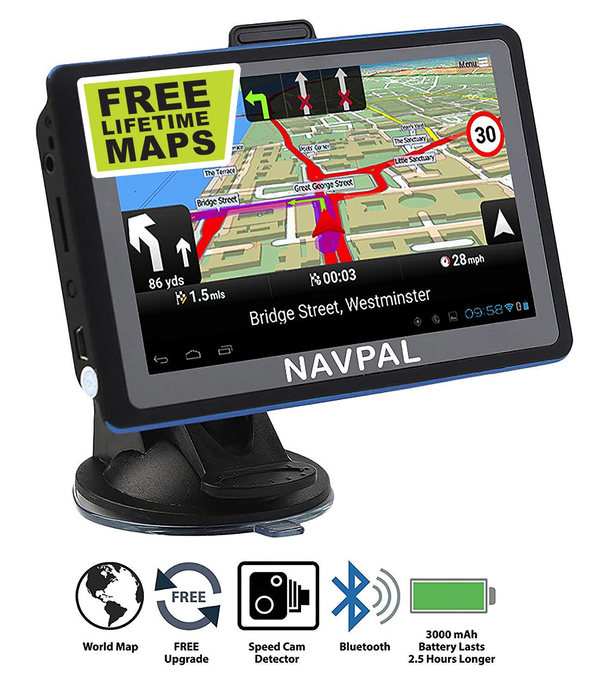 "5/"" Inch Car GPS Navigation SAT NAV SpeedCam FM Free EU Map ROM Automotive Black"
