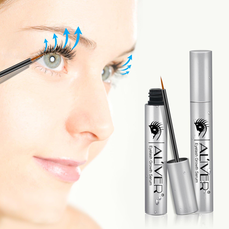 Aliver - Suero enriquecedor para cejas y pestañas, para fomentar el crecimiento de pestañas.: Amazon.es: Belleza