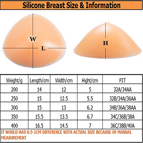 MOOVANT Silicone Breast Form Mastectomy Prosthesis Bra Enhancer Inserts Only One Piece