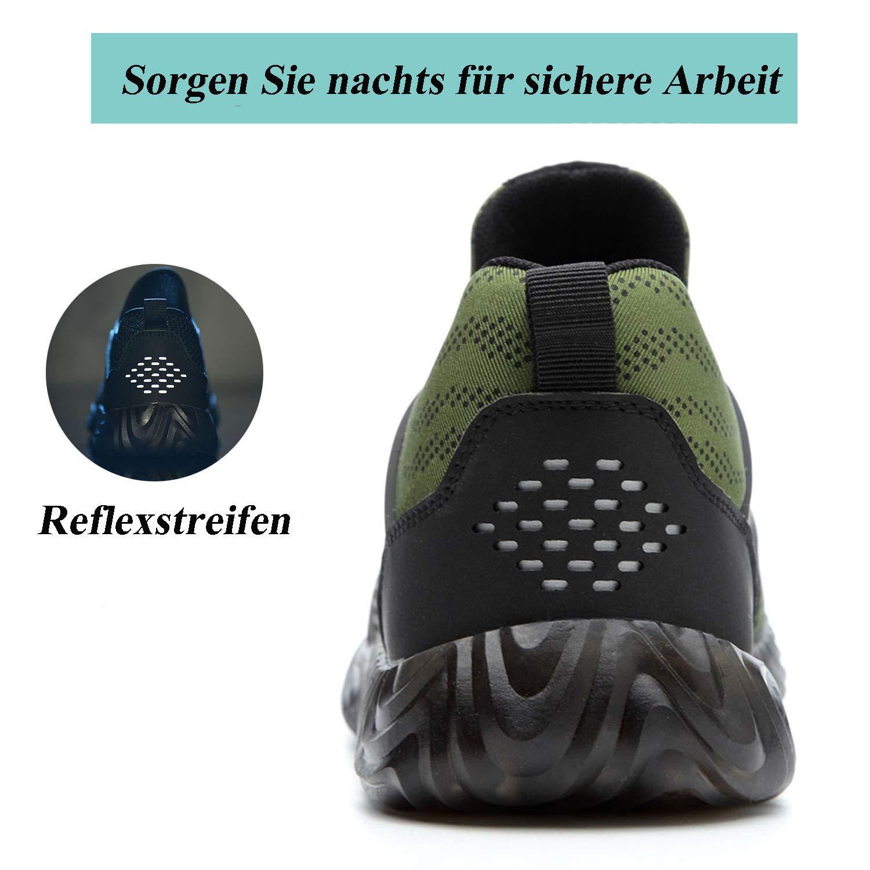 SUADEEX Arbeitsschuhe Herren S3 Leicht Sicherheitsschuhe Damen Sportlich Stahlkappe Sneaker Atmungsaktiv Unzerst/örbare Schuhe