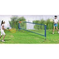 Quickdraw Tennis Set with 2.4m Net Posts Rackets & Balls Kids Outdoor Garden Family Fun