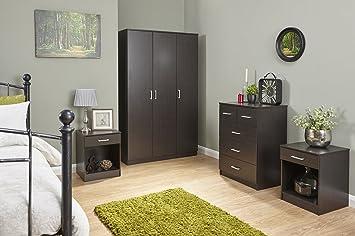 Phenomenal Home Source 4 Piece Bedroom Wooden Furniture Sets Wardrobe Home Interior And Landscaping Ponolsignezvosmurscom
