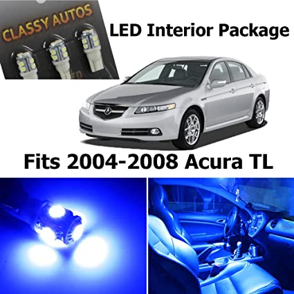 Amazoncom Classy Autos Acura TL BLUE Interior LED Package - Acura tl 2004 interior