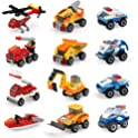 12-Pack EAHUMM Mini Building Blocks Cars Toys Sets