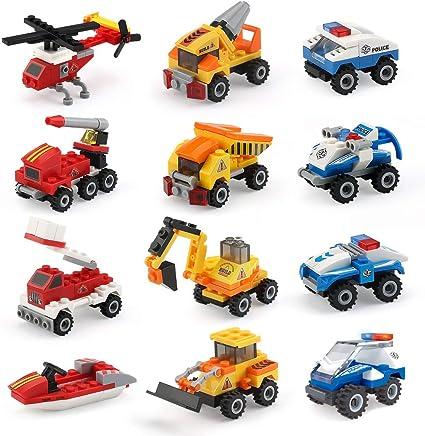 Amazon.com: Mini bloques de construcción de coches juguetes ...
