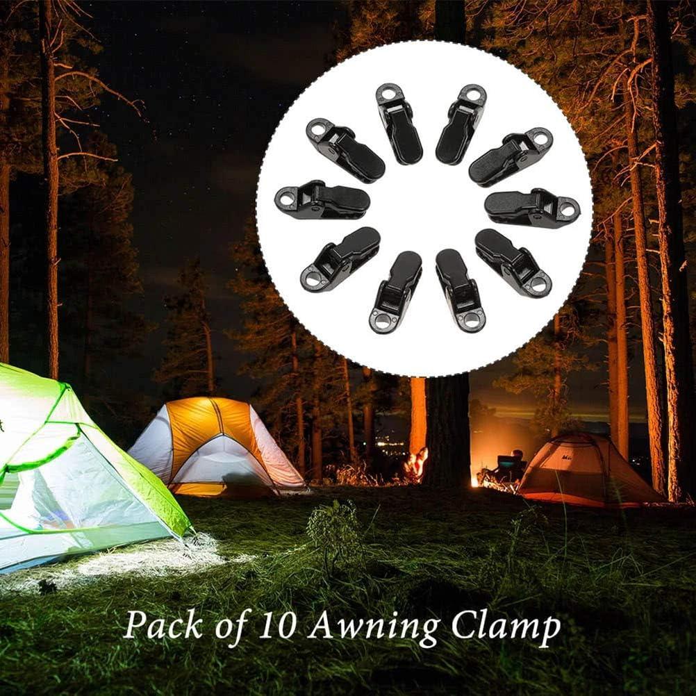 Phayee Markisenklemme 10 St/ücke Wiederverwendbare Markise Klemmen Plane Clips Karabiner Camping Zelt Tarp Klammer f/ür Camping Outdoor Aktivit/äten