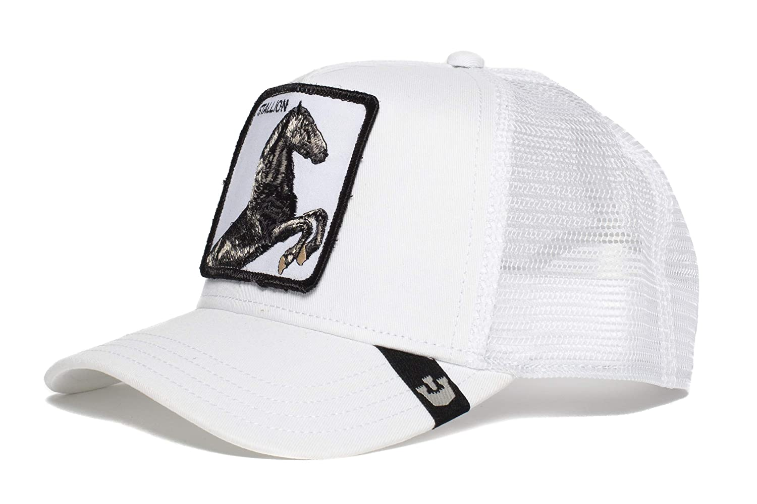 Amazon.com  Goorin Bros. Mens  Stallion  Horse Trucker Snapback Trucker  Baseball Hat White  Shoes 74cd080339a