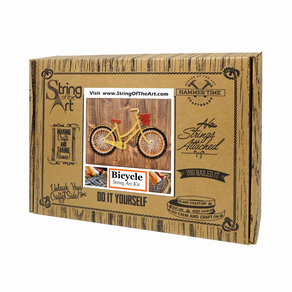 Amazon string art diy kit string art bicycle adult crafts amazon string art diy kit string art bicycle adult crafts kit bike decor crafts kit arts and crafts diy kit w string nails instructions solutioingenieria Image collections