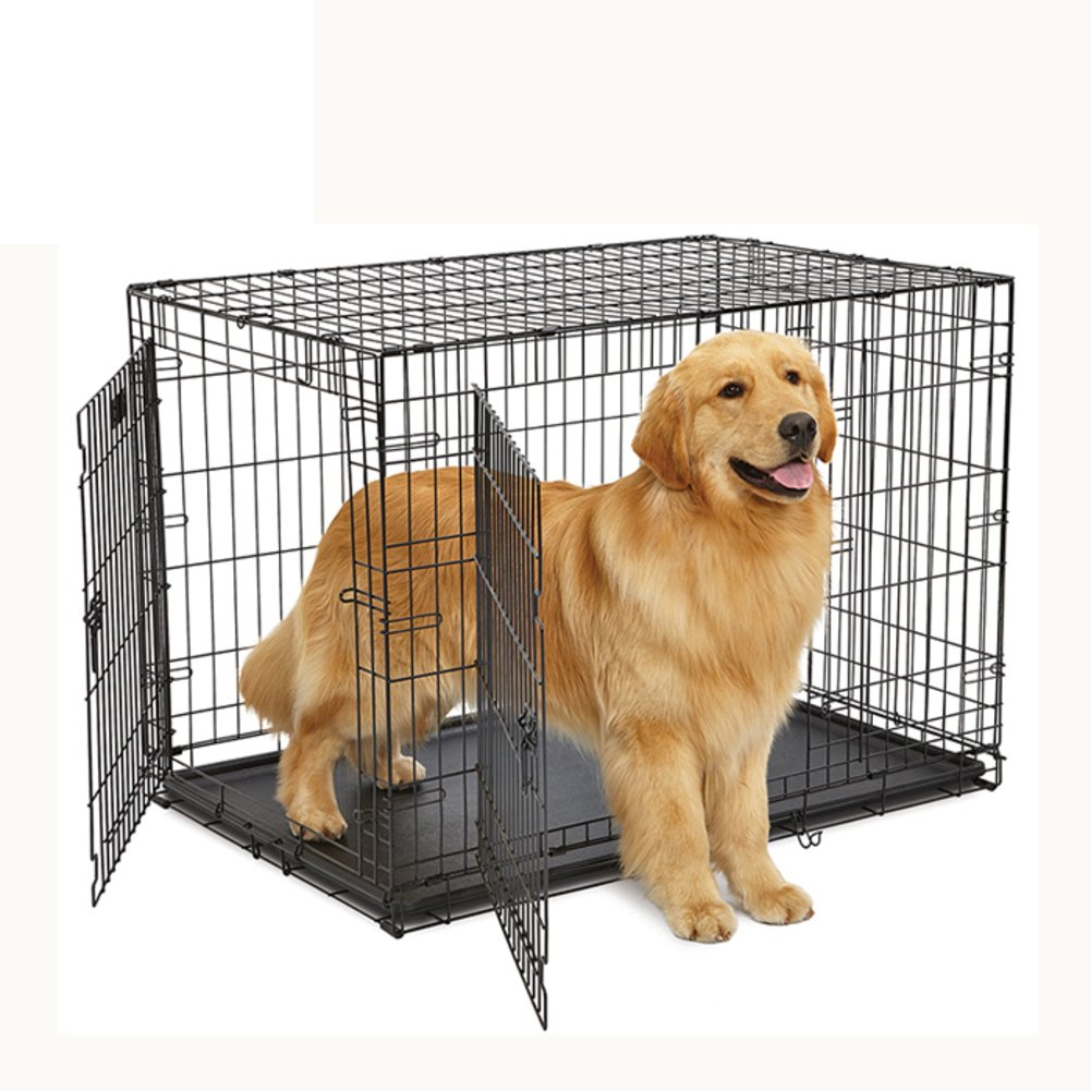 折り畳み式の金属製犬クレート,二重扉の背の高い犬のサークル犬ケージ パッド仕切りパネル-A 92.7x57.8x62.9cm(36x23x25inch) B07D1M4STG 19242 92.7x57.8x62.9cm(36x23x25inch)|A A 92.7x57.8x62.9cm(36x23x25inch)