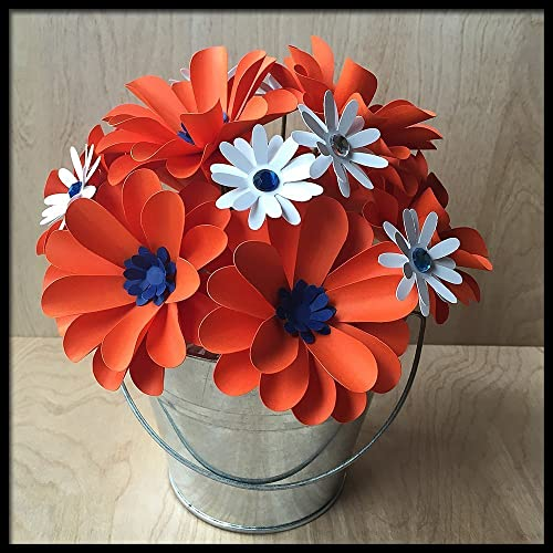 Amazon orange blue handmade paper flower arrangement handmade orange blue handmade paper flower arrangement mightylinksfo