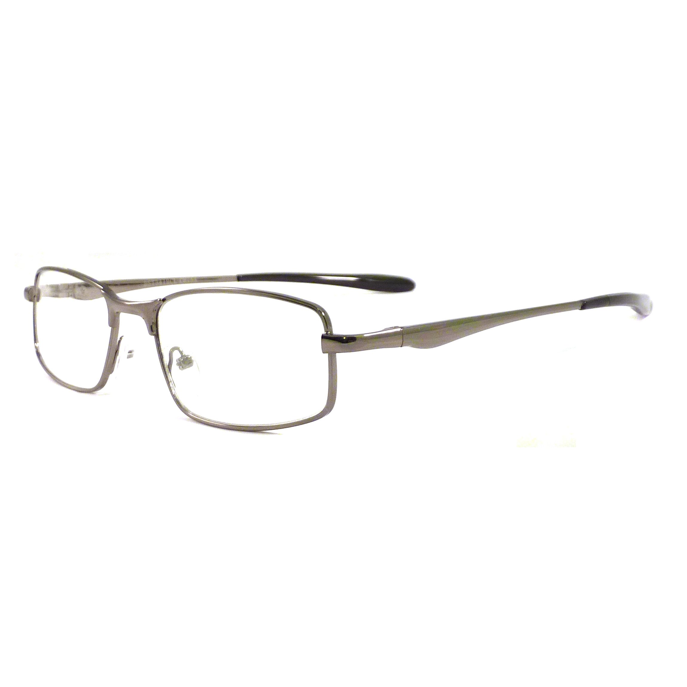 METAL Optical Eyeglass Frame Rx-able Clear Lens Eye Glasses BRONZE/BLACK