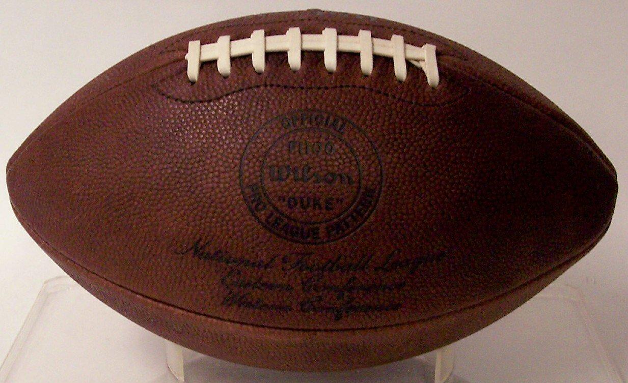 上品なスタイル ウィルソン公式NFLレザーフルサイズFootball – B008PIA9C8 f1250 – – The Throwback
