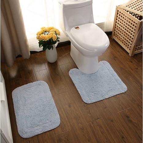1pc Memory Foam U Shape Toilet Rug Bathroom Floor Decoration Home Soft Cotton