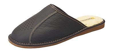 bosaco Damen Pantoffeln Hausschuhe Echtes Leder d3lkfb