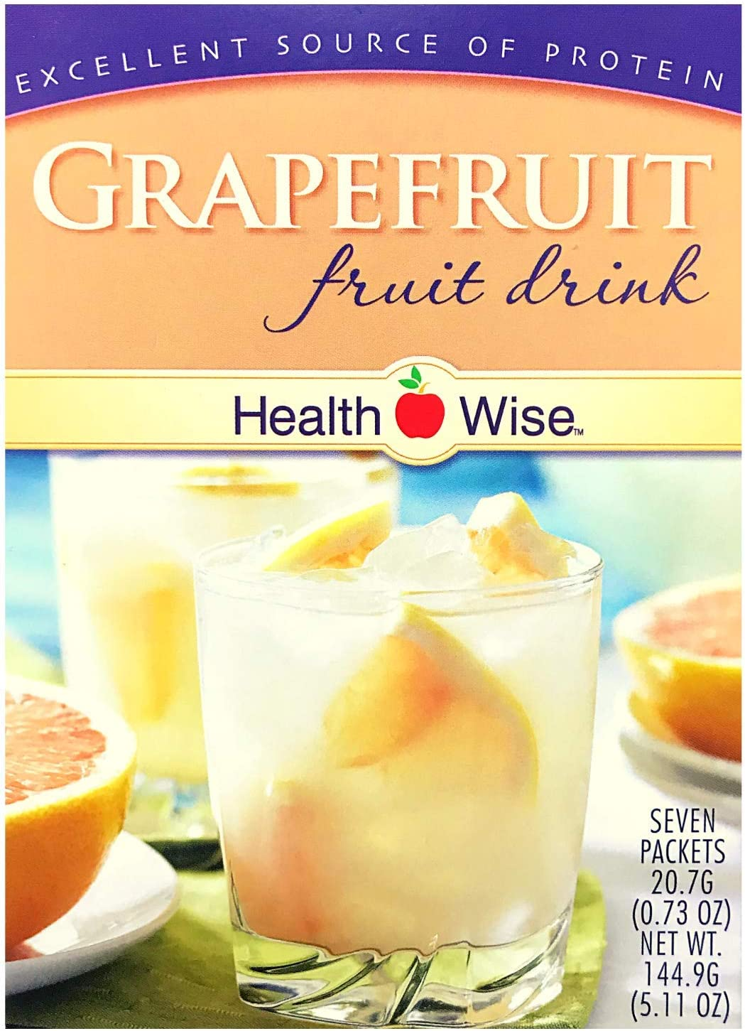 Healthwise - Grapefruit Diet Fruit Drink | Healthy Protein Drink, Appetite Suppressant | High Protein, Fat Free, Low Carb, Low Calorie, Sugar Free (7/Box)