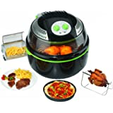 TKG OT 1014 2-in-1 Halogen Oven And Air Fryer, 1300 W, 10 Litre, Black/Green