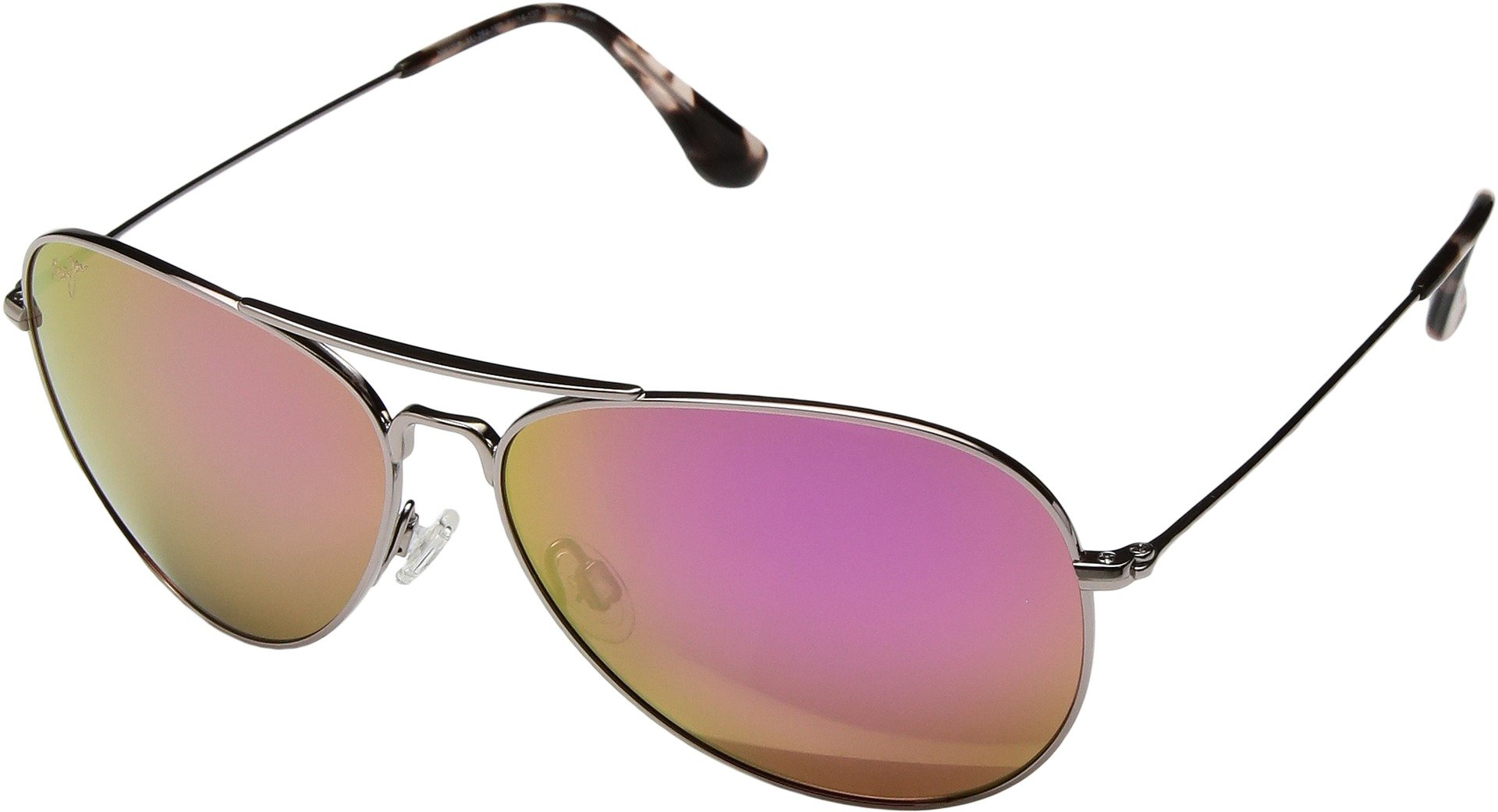 Maui Jim Unisex Mavericks Rose Gold/Maui Sunrise (Pink) Sunglasses