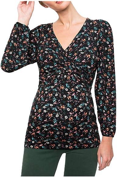 STRIR Mujer Top Maternidad Lactancia Camiseta Lactancia Invierno Camiseta Premamá Manga Larga para Premamá Camisa Moda Casual Primavera Otoño Blusa: Amazon.es: Ropa y accesorios