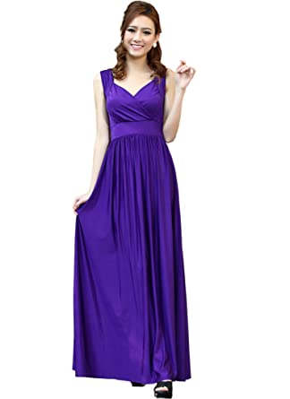 Purple Plus Size Maxi Dresses