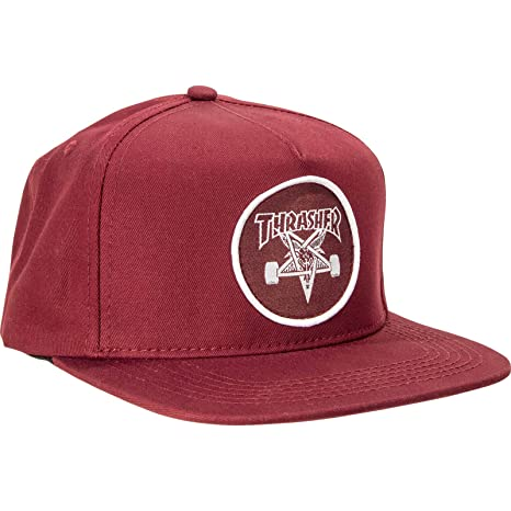 736eb6eab76 Amazon.com   Thrasher Magazine Skate Goat Maroon Adjustable Hat ...
