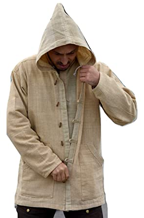 c9f7dfbe42ea Dress for Earth Hemp Jacket Handwoven Hemp Hoodie Sustainable Outerwear  (Small)