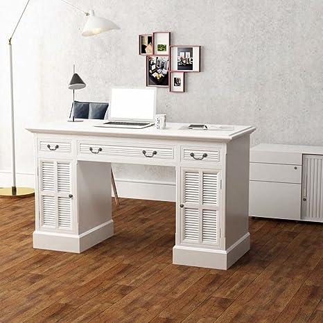vidaXL Kiefer Massiv Schreibtisch 3 Schubladen Arbeitstisch Computertisch Büro
