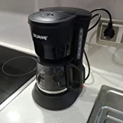 Cafetera de goteo con placa de calentamiento filtro lavable 6 ...