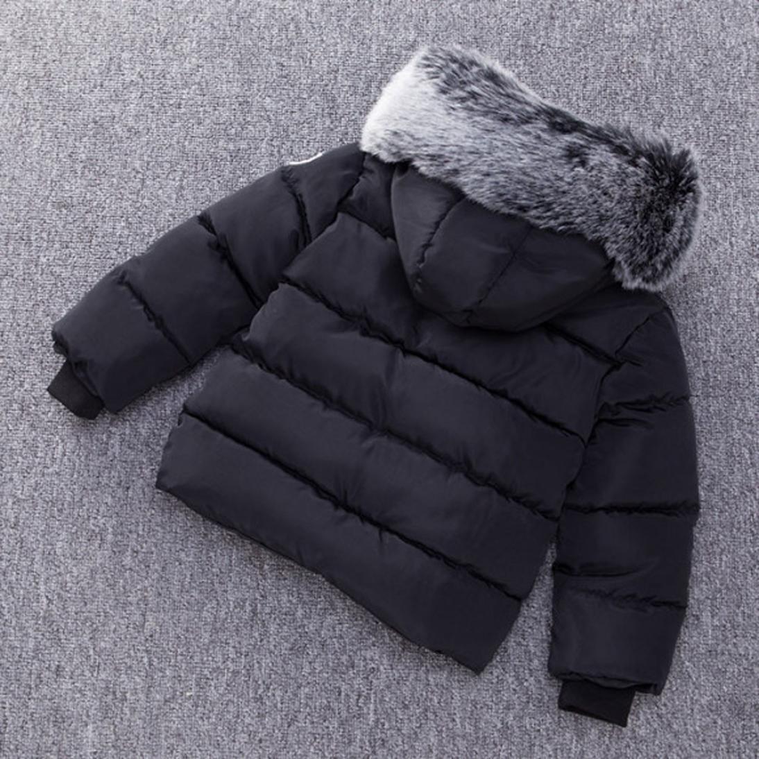 78e316dc6d82 Amazon.com  Vicbovo Toddler Baby Boy Kids Trendy Hooded Fur Down ...
