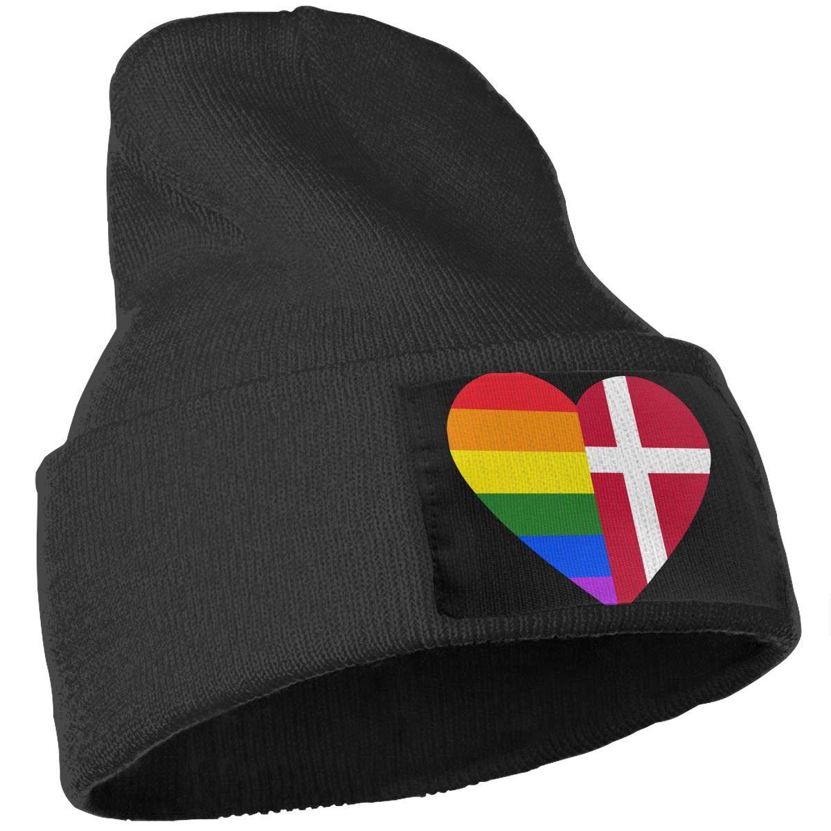 Denmark Flag Unisex Solid Color Knit Beanie Hat Stretchy /& Soft Winter Ski Skull Cap