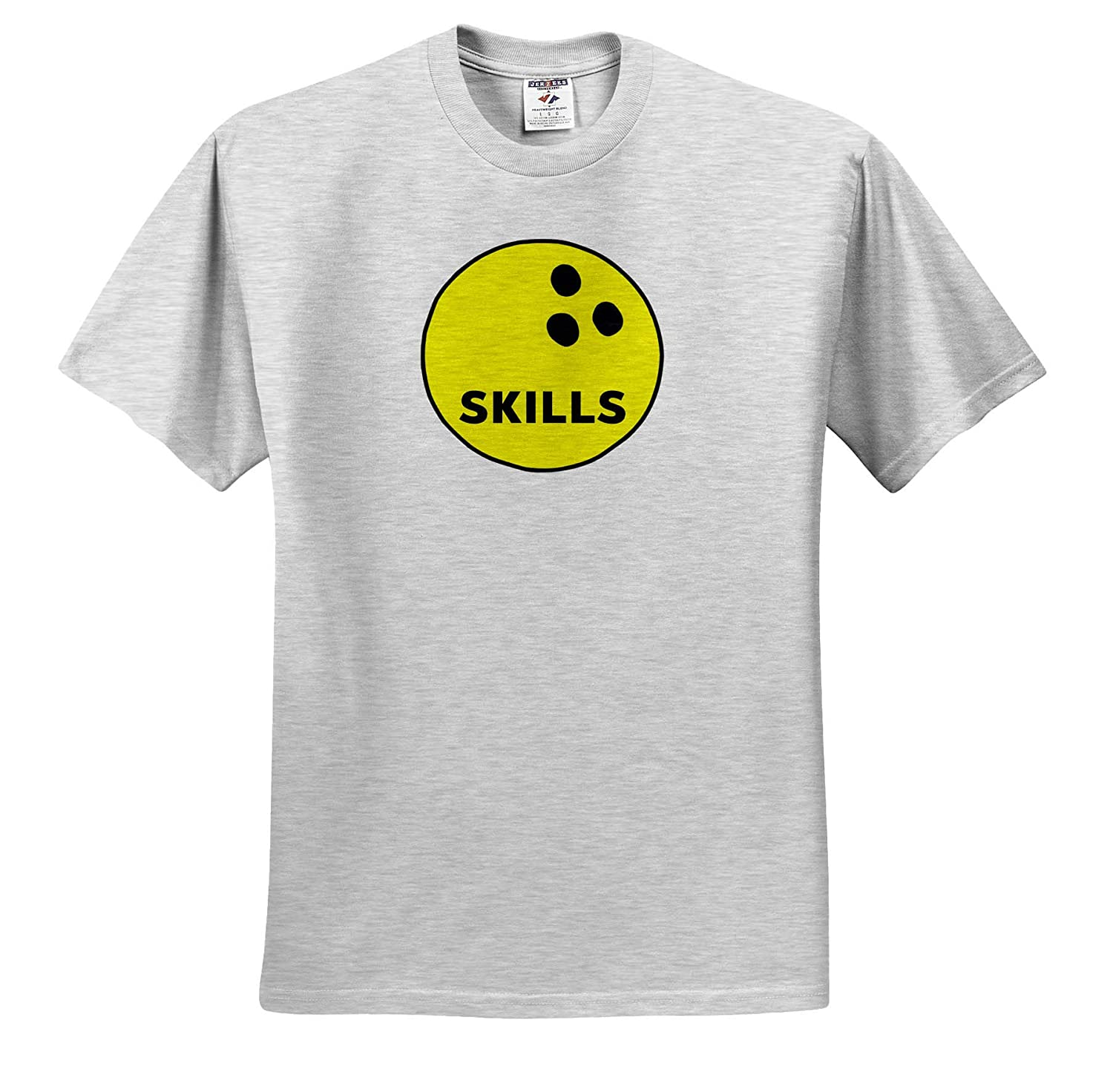 ts/_321057 Adult T-Shirt XL 3dRose Carrie Quote Image Image of Bowling Ball Quote Skills