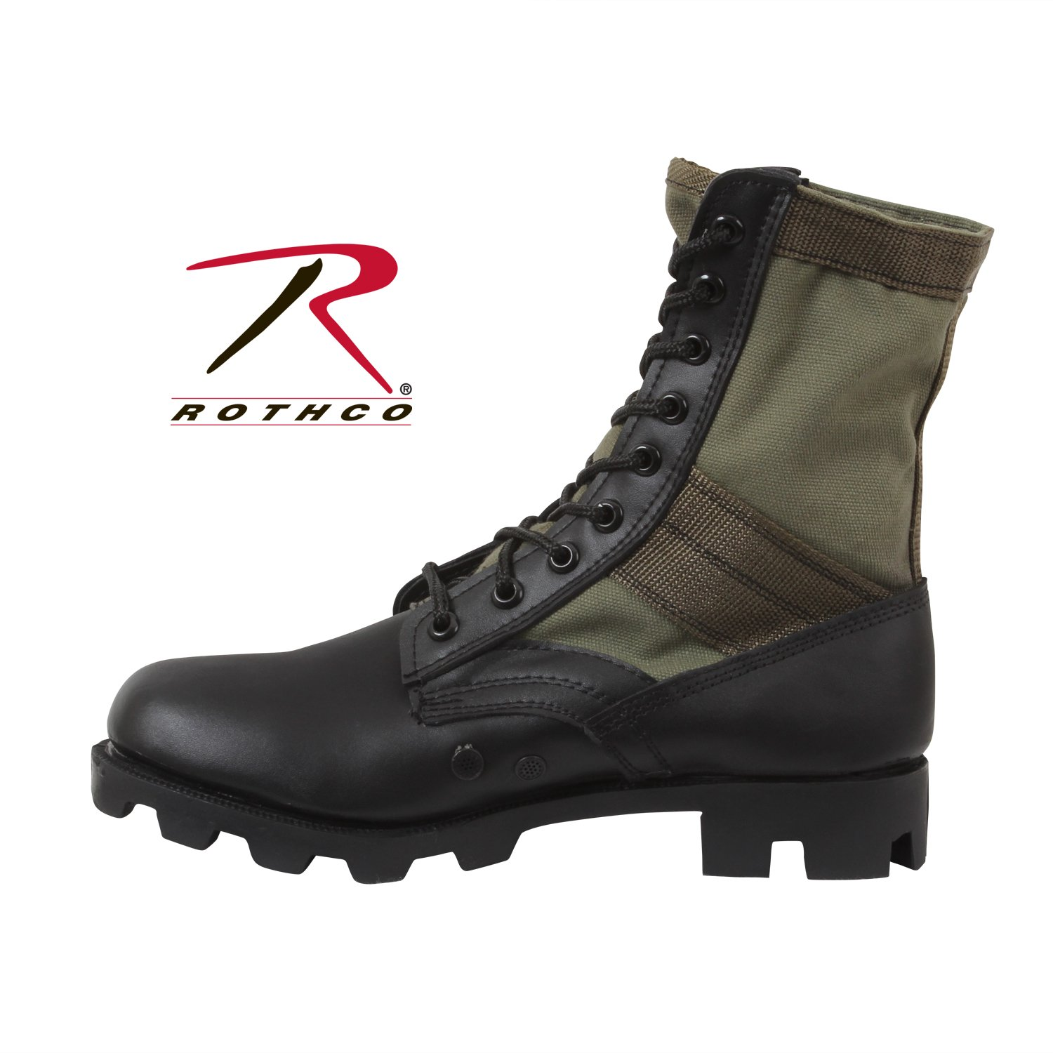 ROTHCO GI TYPE JUNGLE BOOT / 8'' - OD(Olive Drab-7-Wide) by Rothco