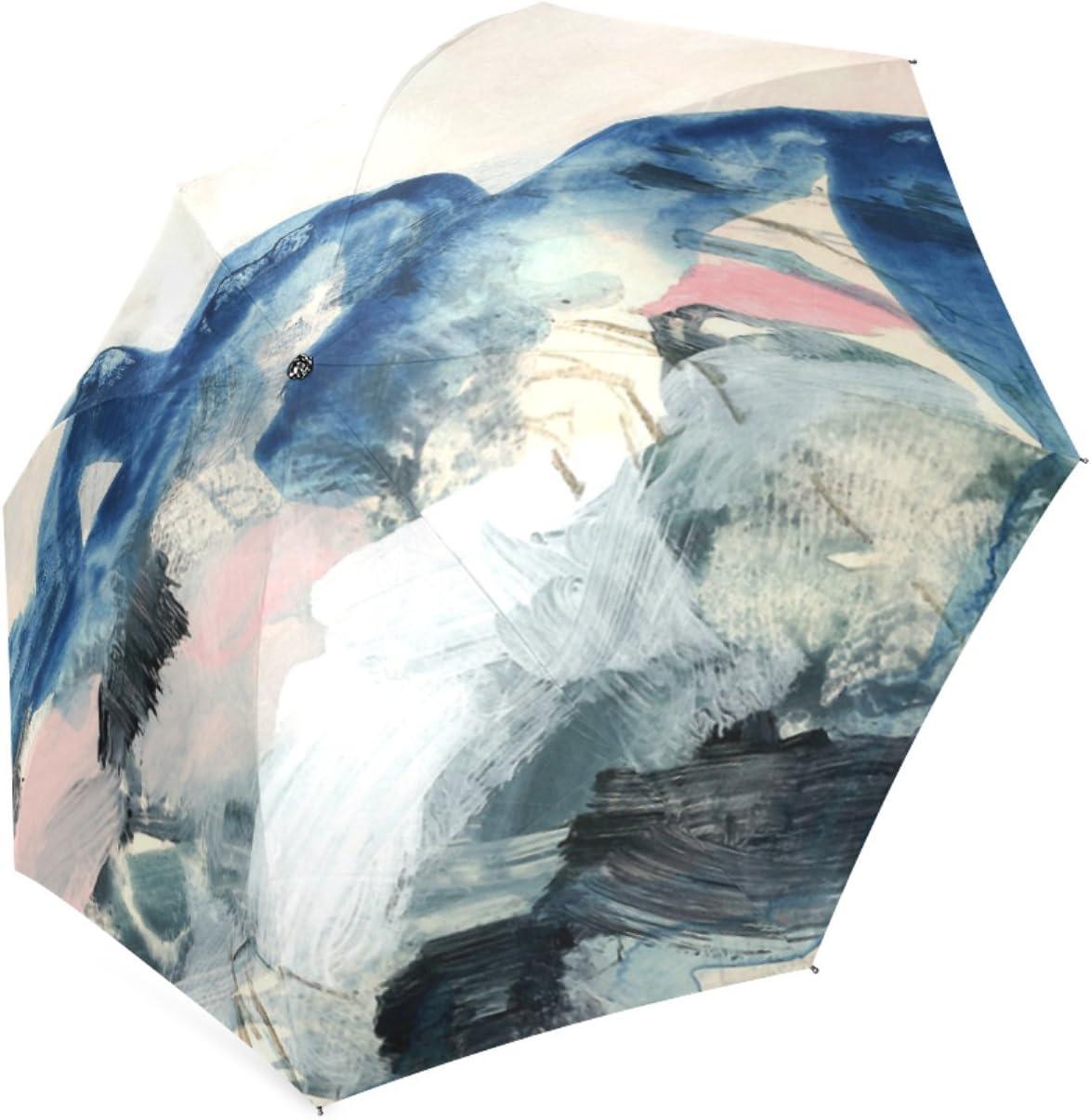 Beautytool Customized Abstract Painting Folding Travel Umbrella