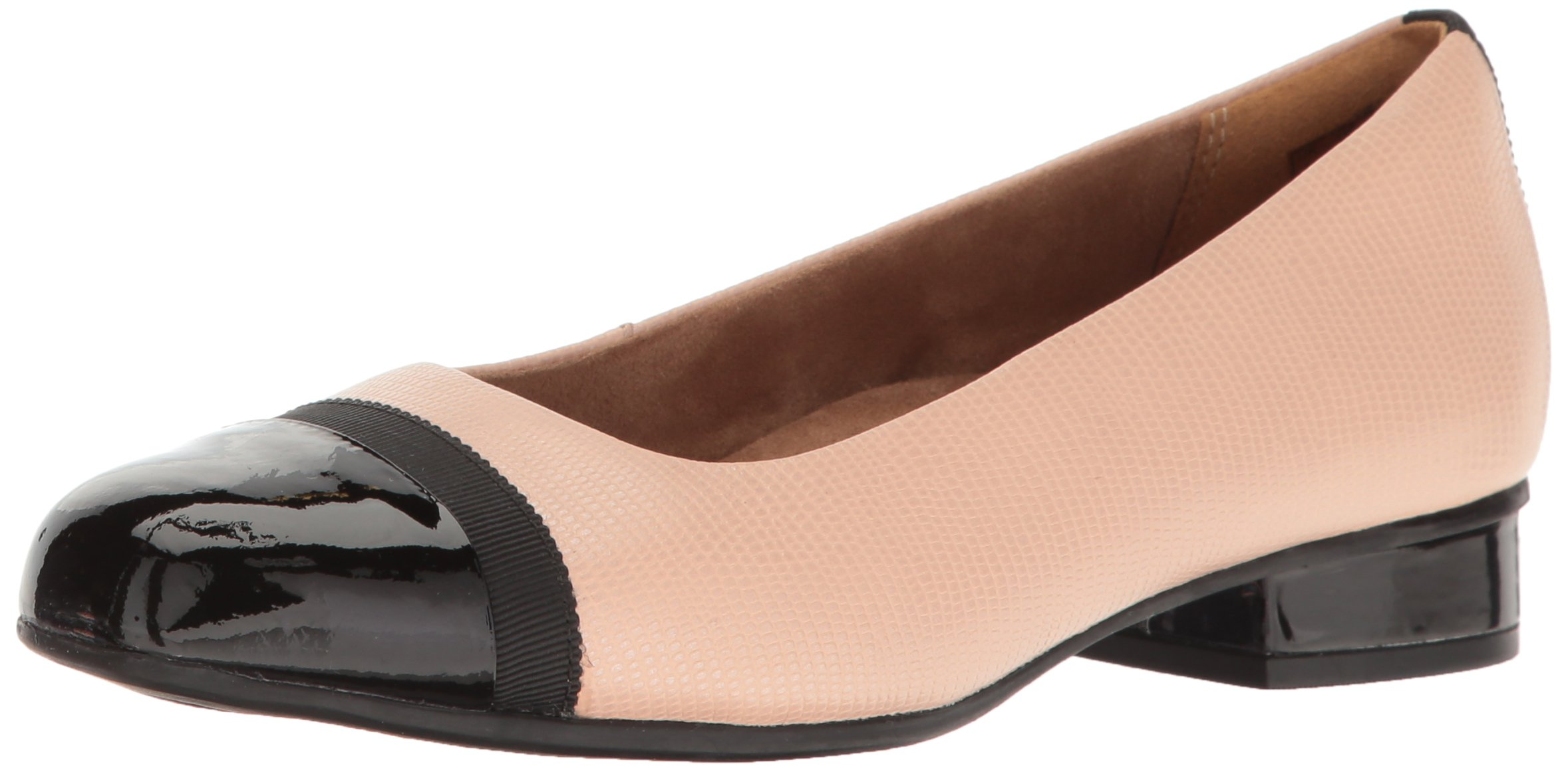 CLARKS Women's Keesha Rosa I Dress Pump, Dusty Pink Leather, 8 W US