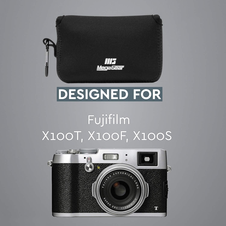 MegaGear Estuche de c/ámara Ultra Ligero X100S X100T de Neopreno Compatible con Fujifilm X100F