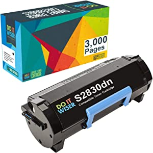 Do it Wiser Compatible Toner Cartridge Replacement for Dell S2830dn S2830 593-BBYO FR3HY TC2RH (Black 3,000 Pages)