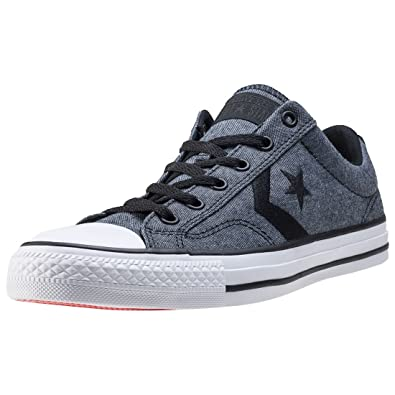 f4d0bafeb66871 Converse Mens Star Player Ox Black White Canvas Trainers 8 UK   Amazon.co.uk  Clothing
