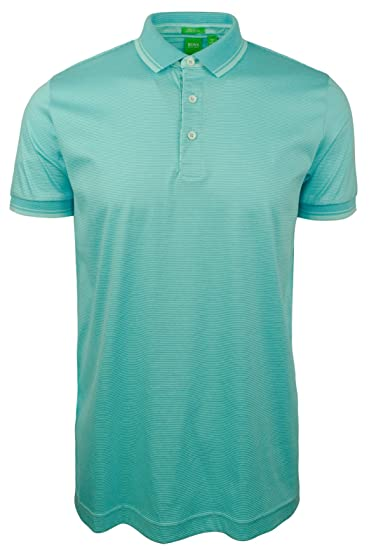 a947f6ee2 Amazon.com: Hugo Boss Men's Short Sleeve Polo Shirt-T-L Turquoise ...